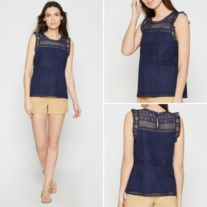 Joie Lupe Lace Tank Top
